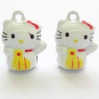 4 Cute Hello Kitty 22mm Bell Charms